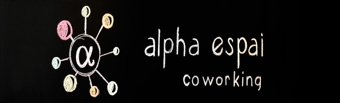 alpha espai logo pizarra